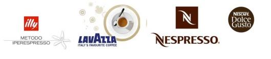 Logos marcas d ecafé ordenadas por precios